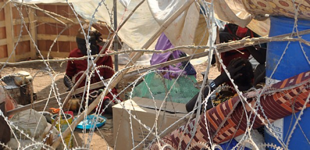 An Internally Displaced Person (IDP) in a camp in Juba, January 3, 2014.