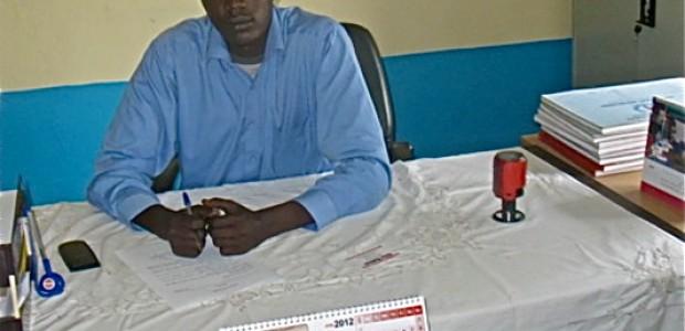 Teran Gor Teran, acting medical director of Rumbek's hospital in his office.