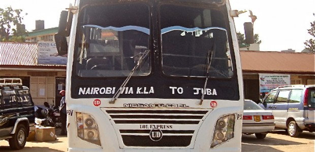 A LOL Express bus parked in the company's yard in Kampala, August 22.