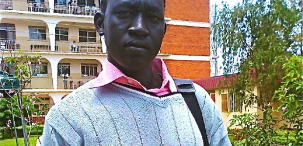 John Malou Manyiel, a student of Nkumba University in Kampala, was overpowered by three men, who stole his gold necklace, September 6.