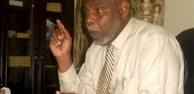 مطرف صديق، سفير السودان لدى جنوب السودان. أثناء الحوار، 19 أكتوبر.