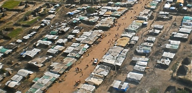 Aerial view of Mayom, Unity State, October 11.