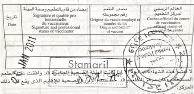 التطعيم هو أهمّ التدابير الوقائية التي يمكن اتخاذها ضدّ الحمى الصفراء
