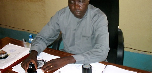 The Commissioner of Rumbek Central County, Abraham Meen Kuc.