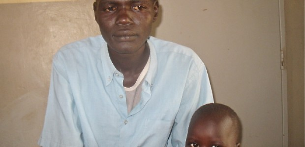 A TB patient in Rumbek.