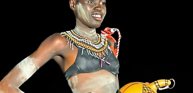 Contested beauty: A woman participating in the Miss South Sudan Beauty Contest 2012-2013, November 11.