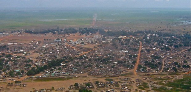 Aerial view of Aweil, the capital of Northern Bahr el-Ghazal State, October 21, 2007.