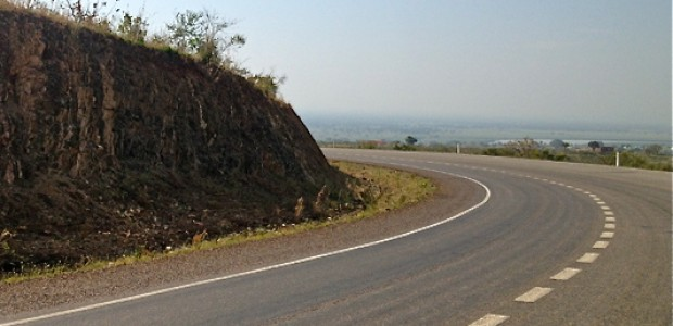 The main road connecting Juba and Nimule, the town bordering neighbouring Uganda, December 17, 2012.