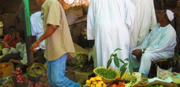سوق الخضر في الخرطوم، 9 يونيو.