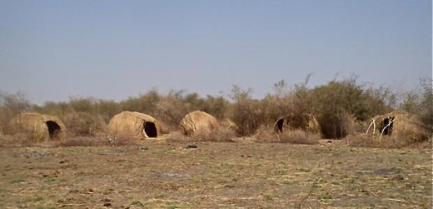 مراكز إيواء مهجورة في مقاطعة بيبور التابعة لولاية جونقلي.