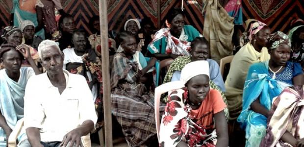 Participants during the community forum in Bentiu's Dere, August 20.