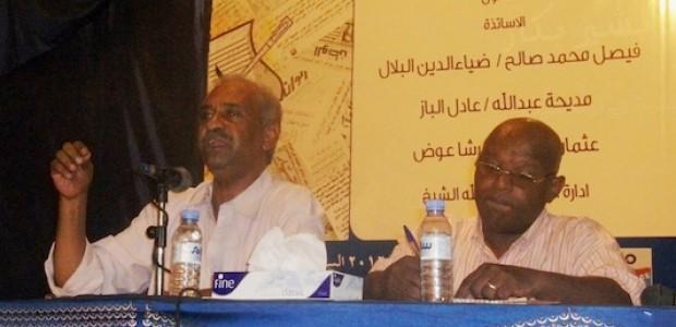فيصل محمد صالح خلال ندوة صحفية في الخرطوم، 10 سبتمبر 2012.