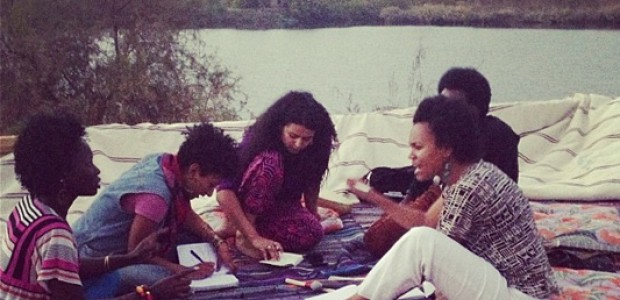 Participants of The Nile Project residency in Egypt, January 19.