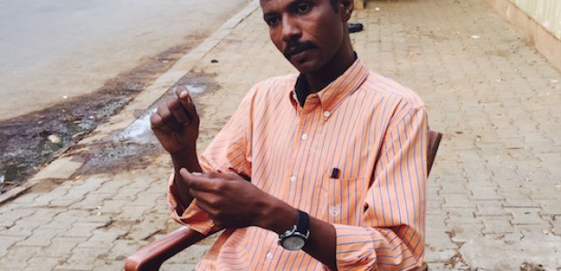 الصحفي والناشط بمبادرة 'كتاب من أجل أريتريا' عادل إبراهيم، الخامس يونيو 2015.