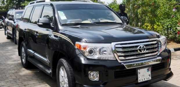 A V8 Toyota Land Cruisers in Juba, June 23, 2015.