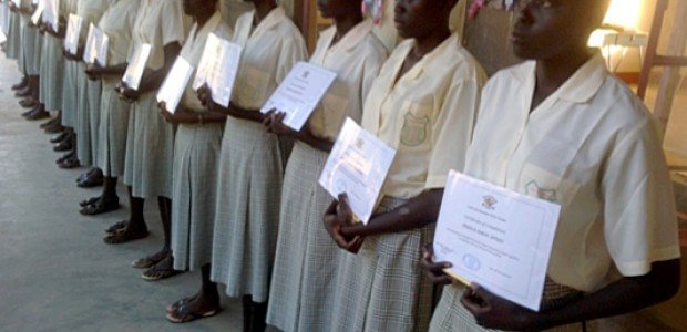 The recent graduation of 23 girls from Loreto Secondary School in Rumbek, November 2013.