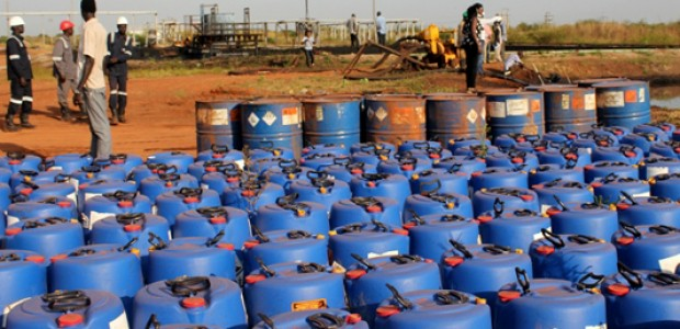 Chemicals used for the production of crude oil at the Unity State oil wells, November 3.