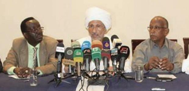 المؤتمر الصحفي للتيار الاصلاحي حيث أعلن قائد التيار الاصلاحي غازي صلاح الدين تكوين حزب جديد، 22 أكتوبر.