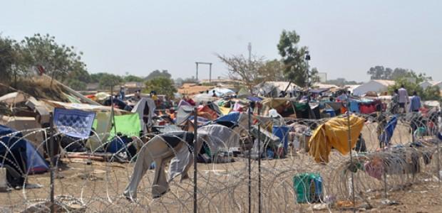 أدت الأزمة في جنوب السودان إلى نزوح الآلاف في جوبا، وعدد من المدن الأخرى، 3 يناير.