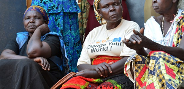 Women attending a rally for peace in Yei, January 16.