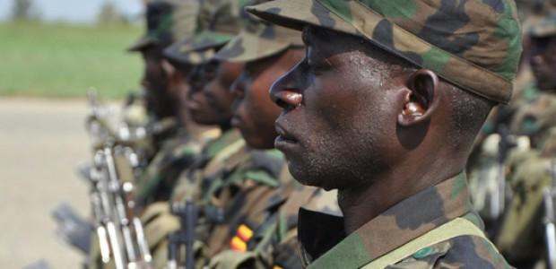 UPDF soldiers in Uganda, April 13, 2011.
