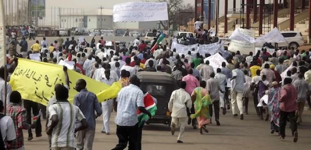 المظاهرة التي دعت إلي طرد هيلدا جونسون، رئيسة بعثة الأمم المتحدة في جنوب السودان، 21 يناير.