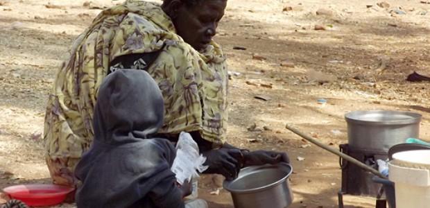 امرأة في مخيم كيتر في جوبا، 9 يناير.