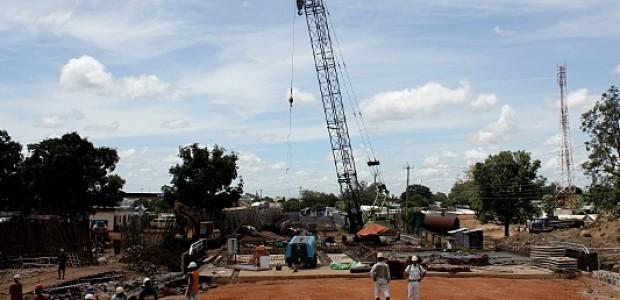 موقع للبناء في جوبا، عاصمة جنوب السودان، 17 أكتوبر 2011.