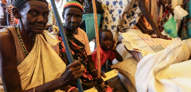 Displaced persons living at UNMISS Juba Tomping protection site on March 21.