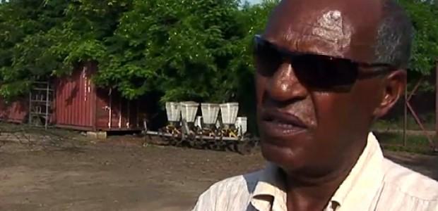 Borohane Gabrehe Ewot on his farm in Juba, June 2014.