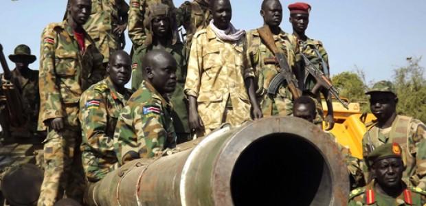 SPLA soldiers in Bentiu, January 12.