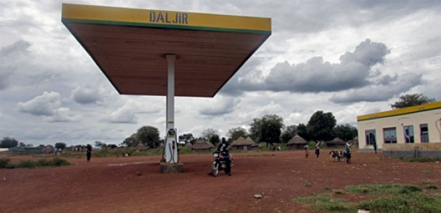 The DAL JIR petrol station in Kuajok, Warrap State, on October 2. Like the Star Gas petrol station, the station has been closed for over two weeks due to lack of fuel.