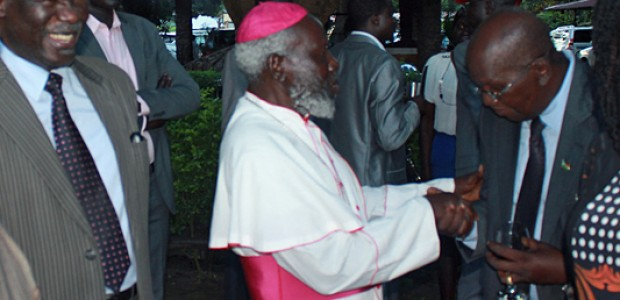Emeritus Paride Taban during the German Unity Day celebrations in Juba, October 3.