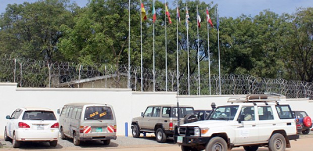 The premises of the Delegation of the European Union to South Sudan in Juba, October 24.
