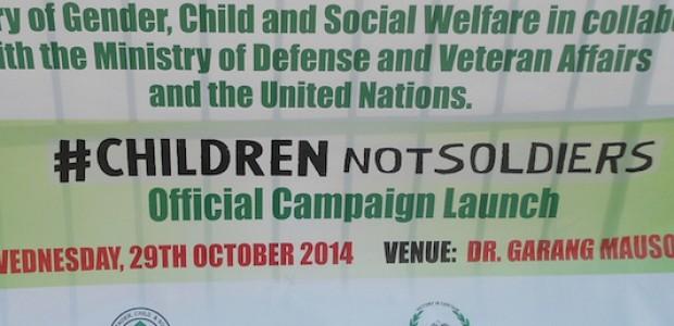 حملة أطفال وليس عساكر، 29 أكتوبر.
