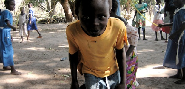 A pupil at Gynapoli Primary School in Yei County, Feb. 19, 2007.