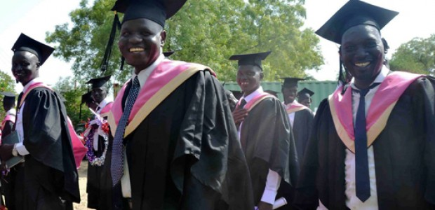 Graduates from the Faculty of Communication at the University of Juba, April 28, 2015.