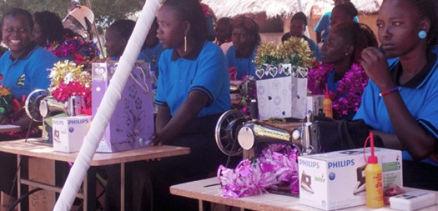Single mothers during the graduation ceremony in Yei, on Friday, May 1, 2015.