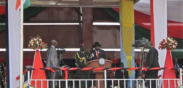 President Salva Kiir Mayardit during South Sudan's Independence Anniversary on July 9, 2013.