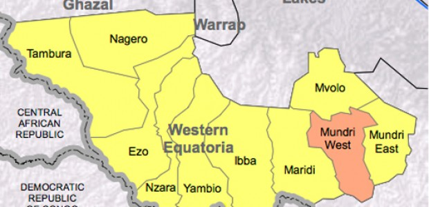 Western Equatoria State: Mundri town is located in Mundri West, in the East of the state.