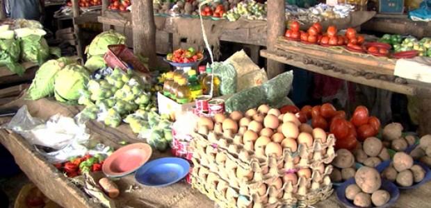 A market stall in Juba, June 1, 2015.