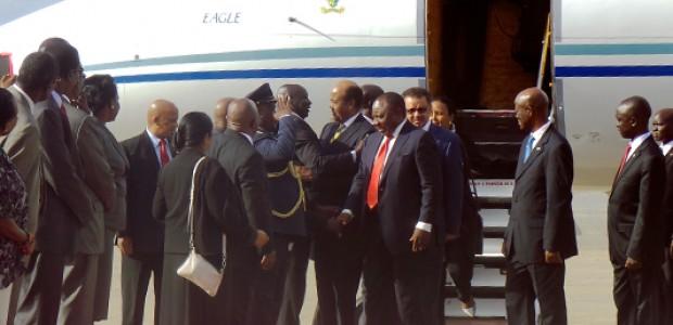 Five former political detainees arrive at Juba International Airpot, June 1, 2015.