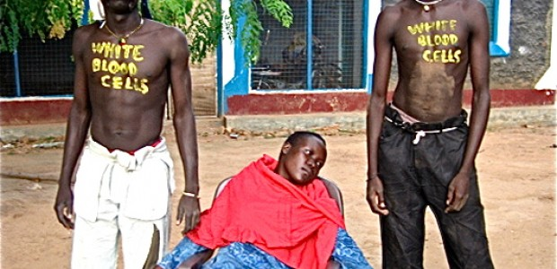 Creating awareness on HIV/AIDS through drama is common in South Sudan.