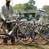 A community-based health worker in Yei receives a bicycle, as part of an NGO programme assisting the government in providing health services.