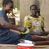 Two women in Yei: Many women suffer from customary laws in South Sudan. (26.11.2005).