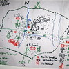 A map drawn by community members in Maridi, visualising the future development of their town, May 25, 2006.