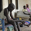 Victims of inter-tribal violence receive treatment at a hospital in Akobo, South Sudan, May 14, 2009.