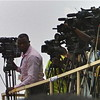 Journalists covering the independence celebrations in Juba, July 9, 2011.
