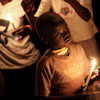 A child holding a candle on July 9, 2011, when South Sudan gained independence.