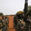 Sudan People's Liberation Army (SPLA) troops in Unity State, South Sudan, April 21, 2012.